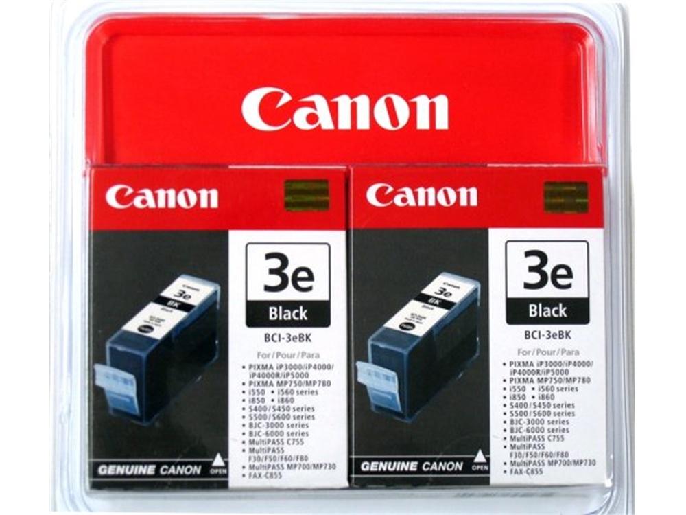 Canon BCI-3eBK Black Ink Cartridge Twin Pack