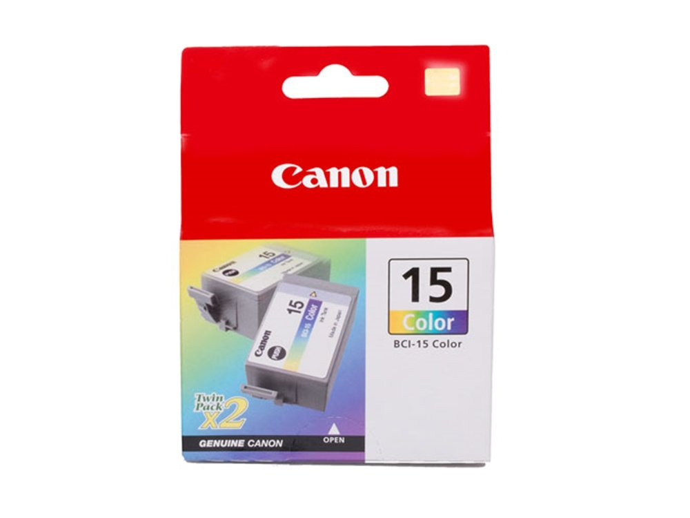 Canon BCI-15 Color Ink Cartridge Twin Pack