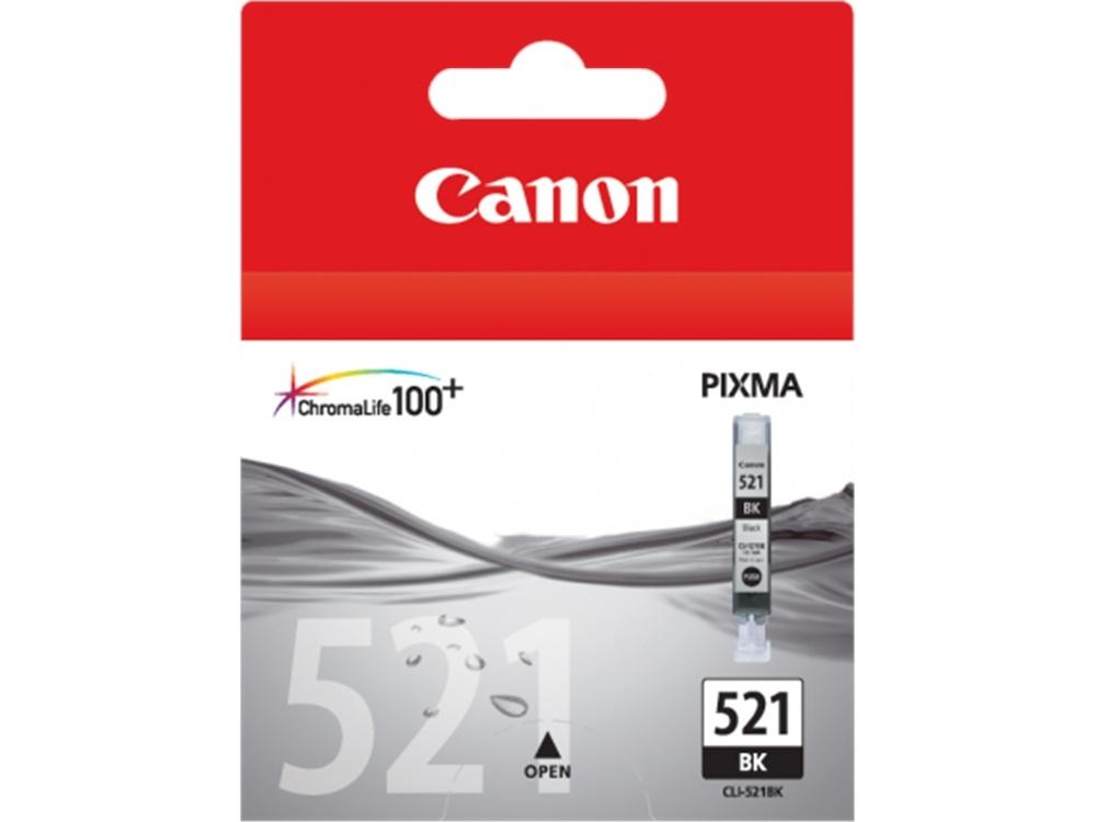 Canon CLI-521 BK ChromaLife100 Black Ink Cartridge