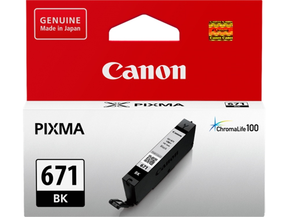 Canon CLI-671 ChromaLife100 Black Ink Cartridge