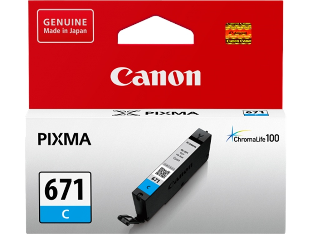 Canon CLI-671 ChromaLife100 Cyan Ink Cartridge