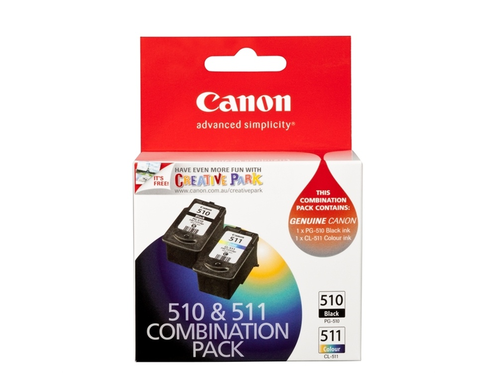 Canon PG-510 + CL-511 Combo Ink Cartridge Pack