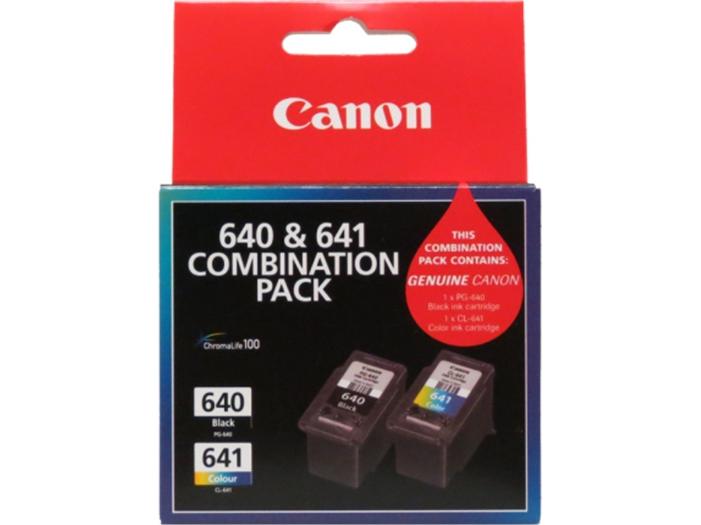 Canon PG-640 + CL-641 Combo Ink Cartridge Pack