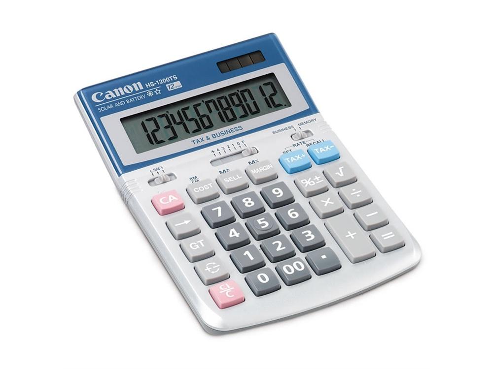Canon HS-1200TS Desktop Calculator with Tax