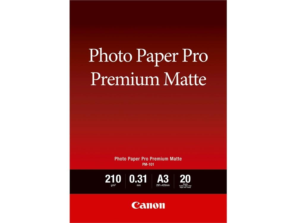 Canon PM-101 A3 Photo Paper Pro Premium Matte (20 Sheets)