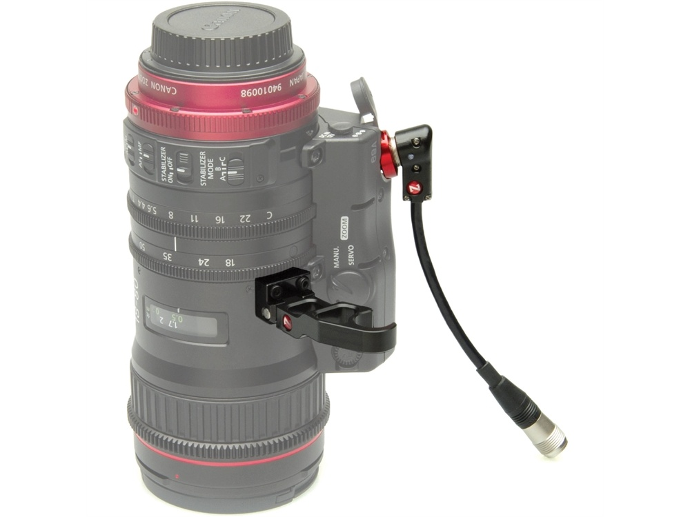 "Zacuto Lens Support for Canon 18-80 with Right Angle 6"" Cable"