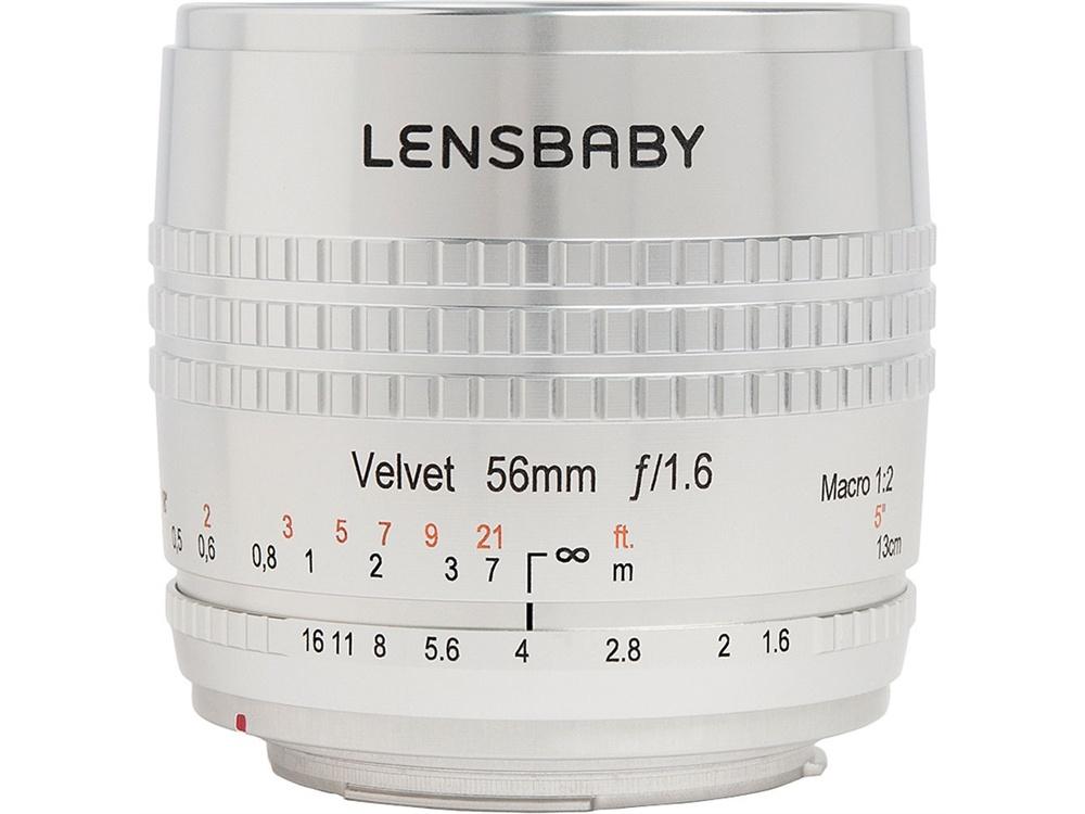 Lensbaby Velvet 56mm f/1.6 SE Lens for Canon EF (Silver)