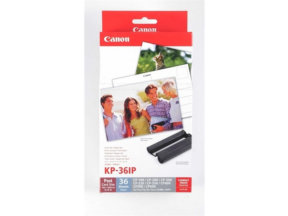 Canon KP-36IP Postcard Paper & Colour Ink Cartridges Pack