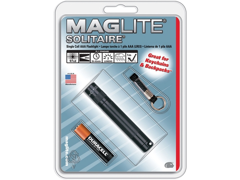 Maglite Solitaire 1-Cell AAA Flashlight (Black)