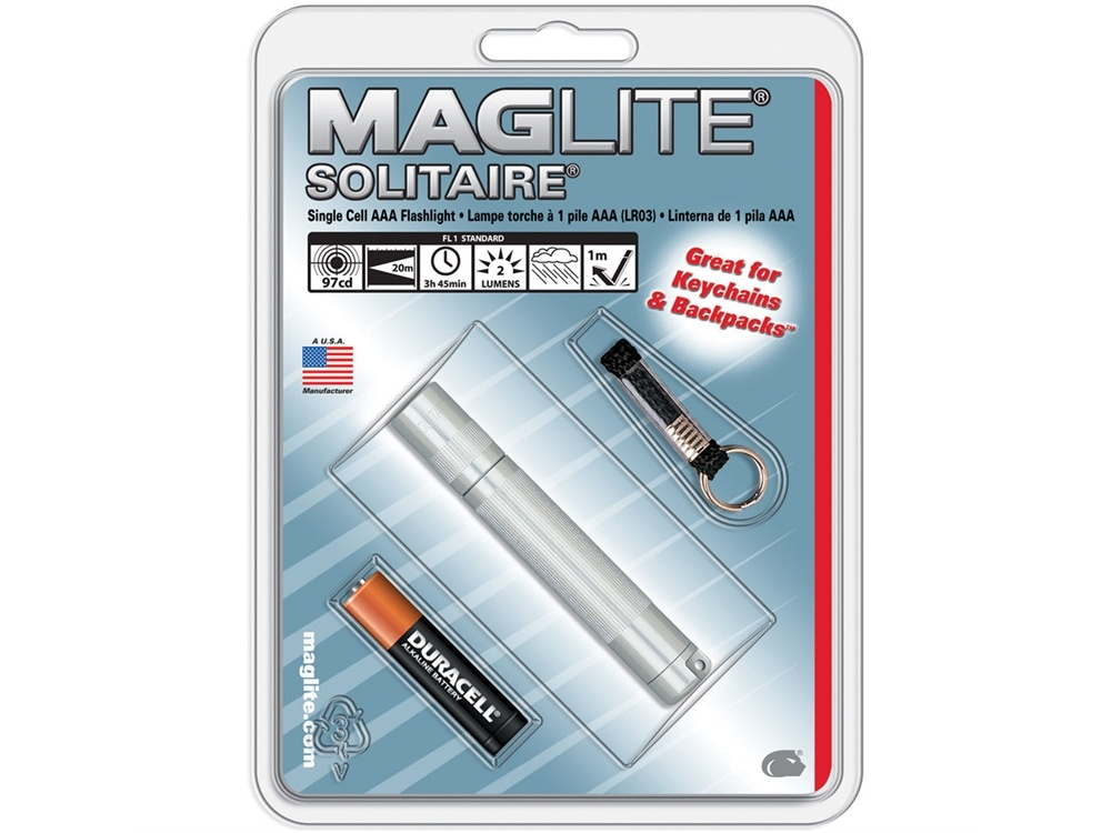 Maglite Solitaire 1-Cell AAA Flashlight (Silver)