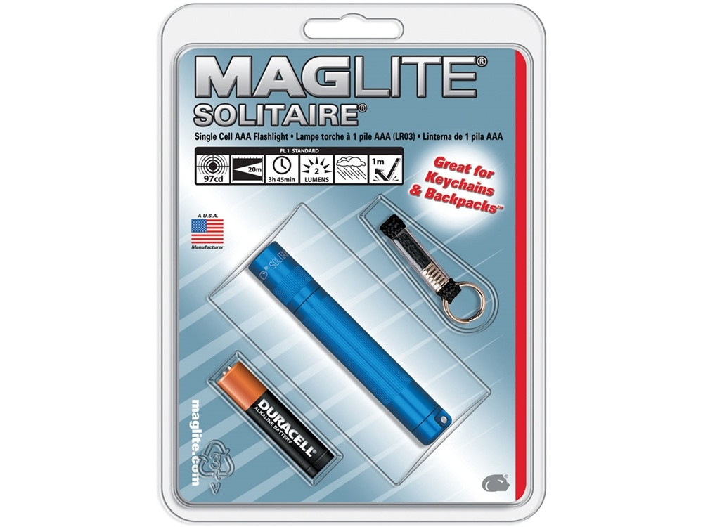 Maglite Solitaire 1-Cell AAA Flashlight (Blue)