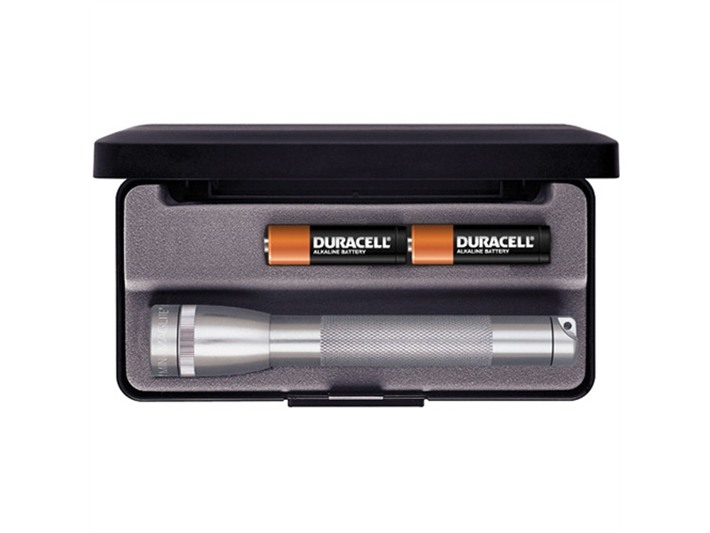 Maglite Mini Maglite 2-Cell AA Flashlight with Presentation Box (Grey)