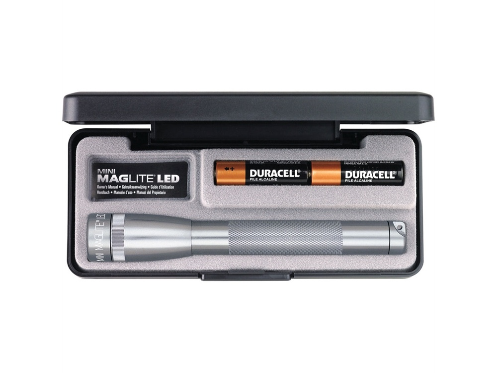 Maglite Mini Maglite 2-Cell AA LED Flashlight with Presentation Box (Grey)