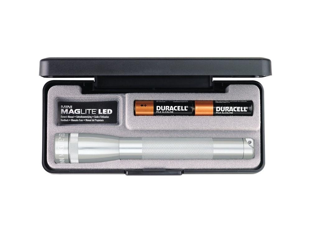 Maglite Mini Maglite 2-Cell AA LED Flashlight with Presentation Box (Silver)