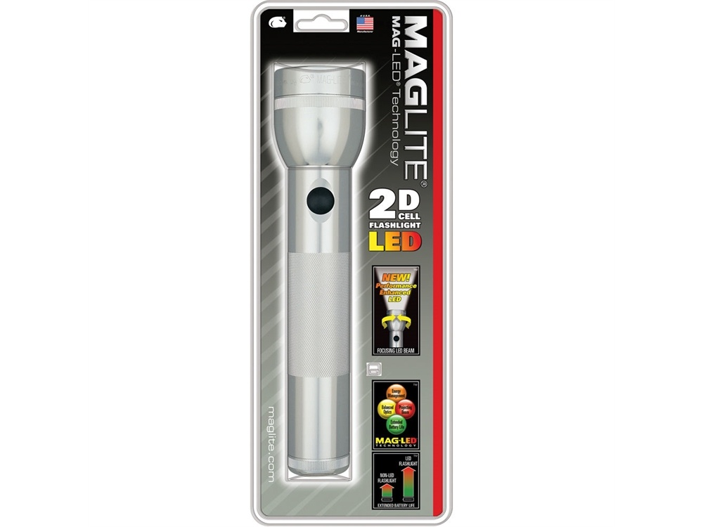 Maglite LED 2-Cell D Flashlight (Silver)