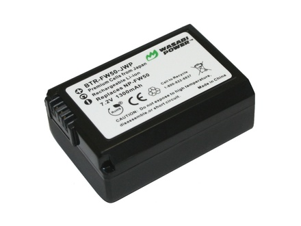 sony np fw50. wasabi power battery - sony np-fw50 type np fw50