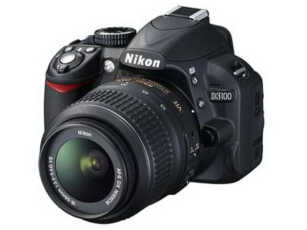 Nikon D3100 Kit including 18-55mm AF-S VR Lens and SD card
