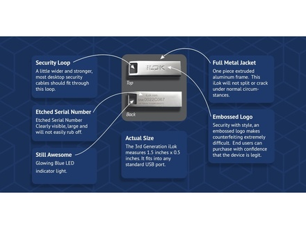 PACE Anti-Piracy ILOK 3 USB Software Authorisation key