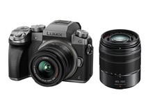 Panasonic Lumix DMC-G7 Mirrorless Digital Camera with 14-42mm and 45-150mm Kit (Silver Body)