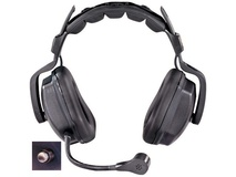 Eartec Ultra Double Shell Mount PTT Headset for SC-1000 Radio Transceiver