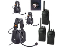 Eartec UDSC3000SH 3-User SC-1000 Two-Way Radio with Ultra Double Shell Mount PTT Headsets