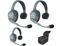 Eartec UL3S UltraLITE 3-Person Headset System with Batteries, Charger & Case (Single)