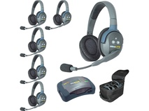 Eartec HUB6D UltraLITE and HUB 6-Person System with 6 Double Remote Headsets