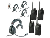 Eartec USSC4000IL 4-User SC-1000 Two-Way Radio with Ultra Single Inline PTT Headsets