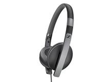 Sennheiser HD 2.30i Slim Lightweight Foldable Headphones with 3-Button Remote Mic (Black)