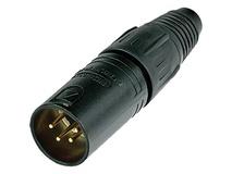 Neutrik NC4MXX-B 4-Pin XLR Male Connector