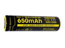 NITECORE NI14500A Flat Top Li-Ion Rechargeable IMR 14500 Battery (650mAh)