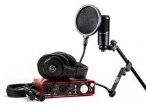 Focusrite Scarlett 2i2 Musician's Home Recording Starter Kit