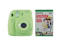Fujifilm instax mini 9 Instant Film Camera with Instant Film Kit (Lime Green, 10 Exposures)