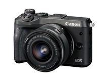 Canon EOS M6 Mirrorless Digital Camera with 15-45mm/55-200mm Lenses (Black)
