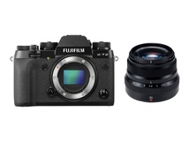 Fujifilm X-T2 Mirrorless Digital Camera with XF 35mm F2 R WR Lens (Black)
