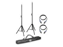 LD Systems 2x Speaker Stand With Transport Bag + 2x Speaker Cable 5M