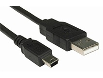 365Films Mini B 5pin Male to USB 2.0 A Male Connector (30.5cm)