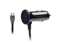 Kensington PowerBolt 3.4 Dual Fast Charge Car Charger with Micro USB Cable