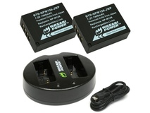 Wasabi Power Battery (2-Pack) and Dual USB Charger for Fujifilm NP-W126, NP-W126S