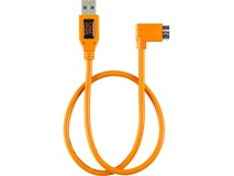 Tether Tools TetherPro USB 3.1 Gen 1 Type-A to Micro-B Right Angle Adapter Cable (Orange, 50cm)