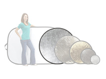 Lastolite Circular Reflector - White and Silver (120cm)
