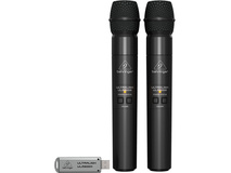 Behringer Ultralink ULM202 USB 2.4 GHz Dual Wireless Microphone System