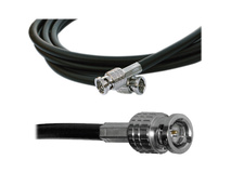 Canare 50' L-3CFW RG59 HD-SDI Coaxial Cable with Male BNCs (Black)