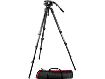 Manfrotto 504HD Head w/536 3-Stage Carbon Fiber Tripod System