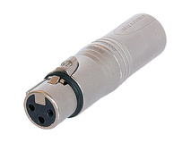 Neutrik 3-Pole XLR Female to 3-Pole XLR Male Extension Adapter