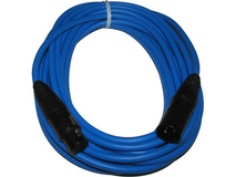 Canare L-4E6S Star Quad XLRM to XLRF Microphone Cable - 15' (Blue)