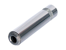 "Neutrik 3-Pole 1/4"" Female to 3-Pole 1/4"" Female Cable Adapter (Nickel Housing, Nickel Plating)"