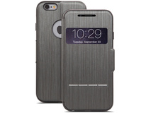 Moshi SenseCover Touch-Sensitive Flip Case for Apple iPhone 6 Plus (Steel Black)