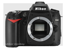 Nikon D90 Body and Lexar SD4GB 1030 Card