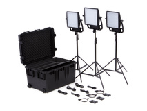 Litepanels Astra 1x1 Bi-Colour LED Traveler Trio V-Mount Kit